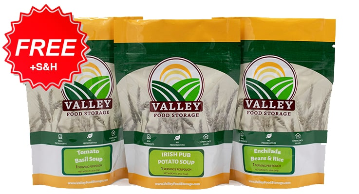 Click here to get a FREE 3-pack of survival food (+S&H)